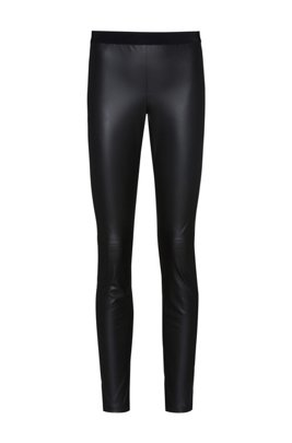 Skinny-fit faux-leather trousers , Black