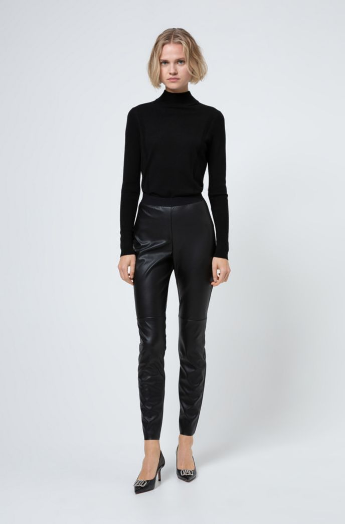 Skinny-fit faux-leather trousers