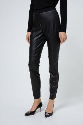 Skinny Fit Hose aus Kunstleder mit verdecktem Reißverschluss