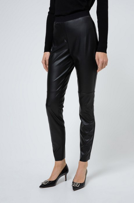 Pantaloni skinny fit in similpelle, Nero