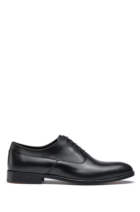 Portuguese-made Oxford shoes in polished leather, Black