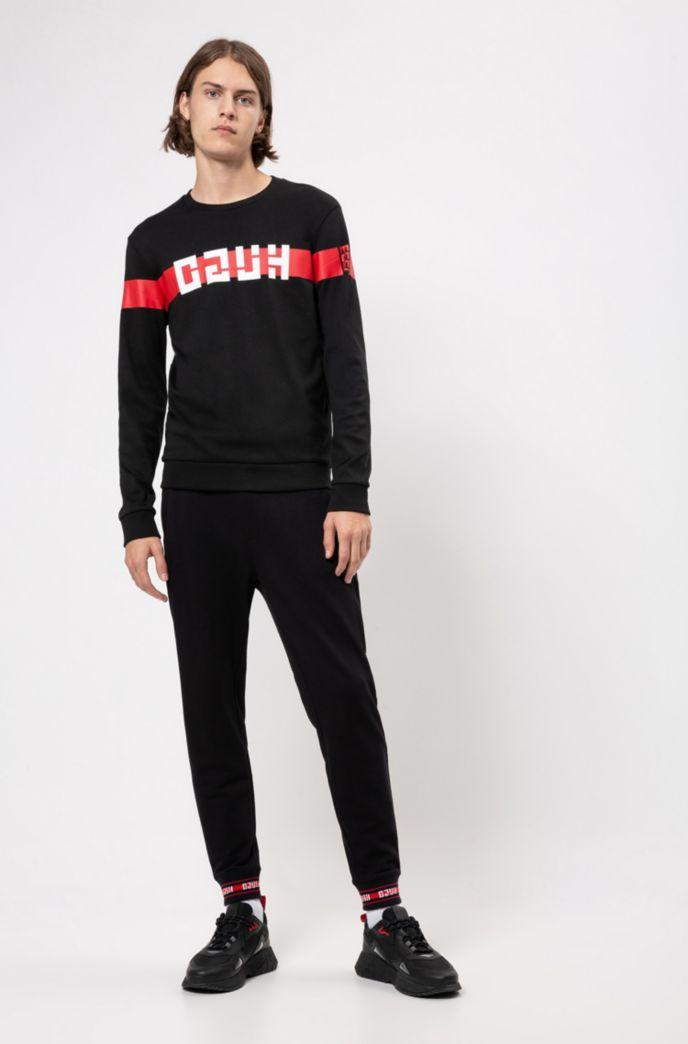 Pantalon Regular Fit en coton avec finitions logo