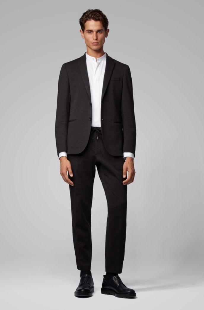 Slim-Fit Smoking-Hemd aus Baumwoll-Satin mit verstellbaren Manschetten