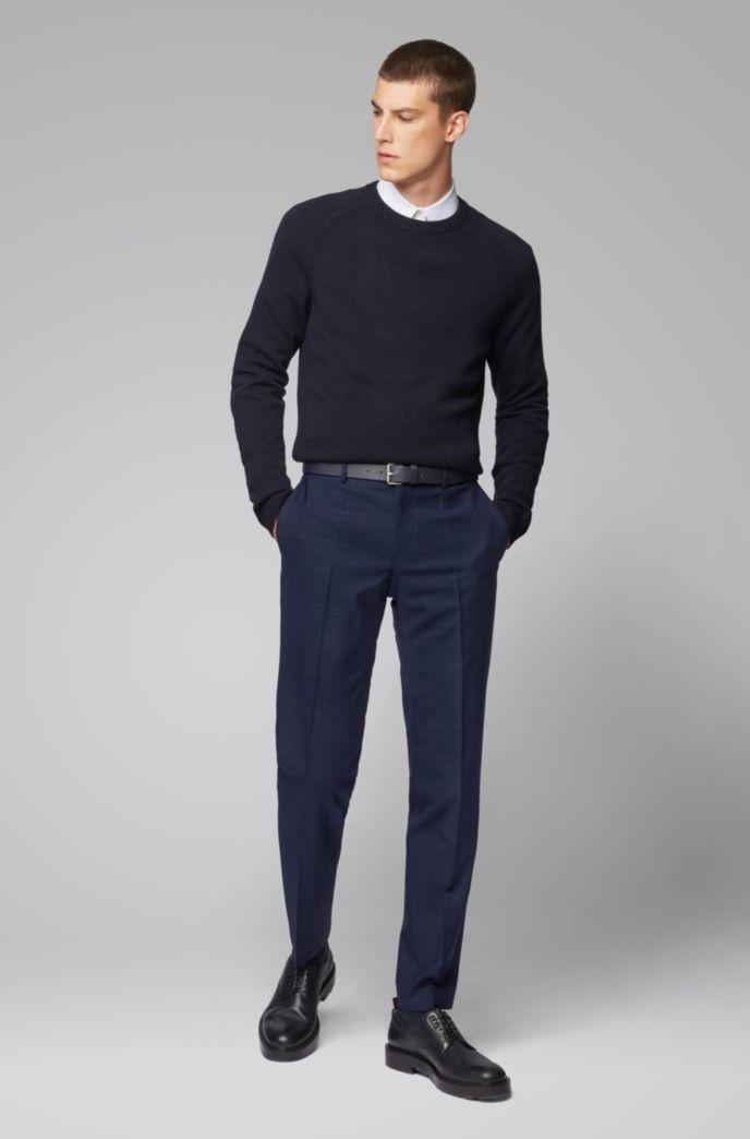 Pantalon Slim Fit en laine vierge mélangée chinée