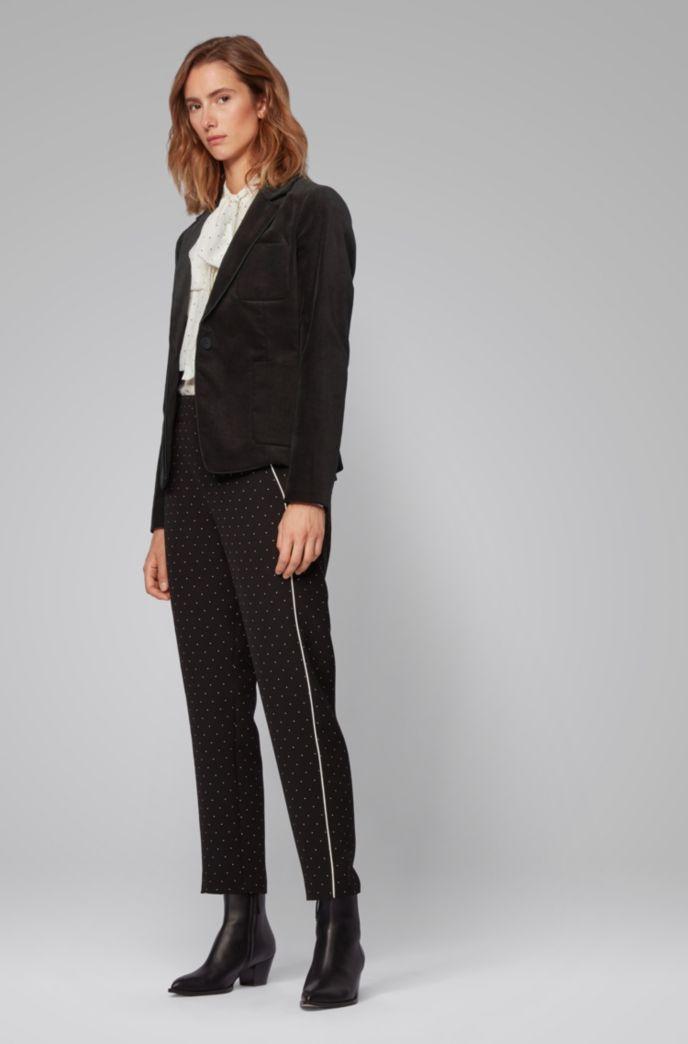 Veste Regular Fit en velours de coton stretch