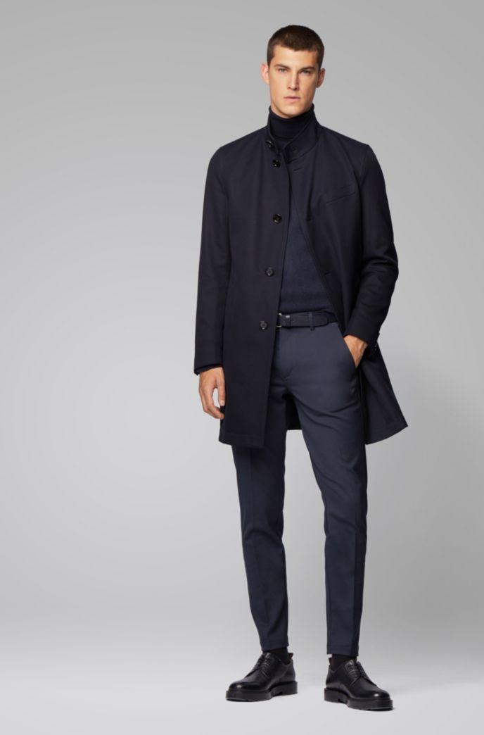 Slim-Fit Mantel aus wasserabweisender Baumwolle