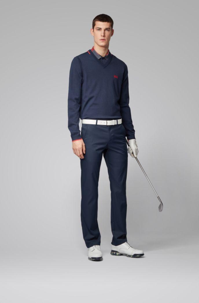 Pullover mit V-Ausschnitt und kontrastfarbenen Details