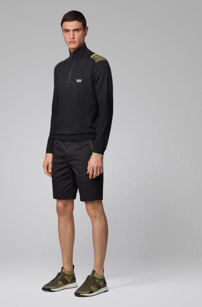 Pullover mit kontrastfarbenen Streifen-Details