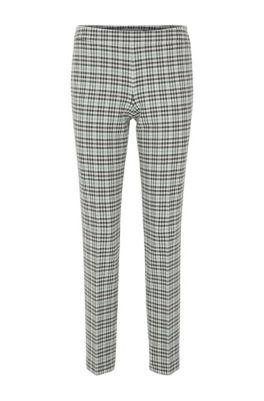 Pantalon Regular Fit à carreaux en twill stretch portugais, Fantaisie