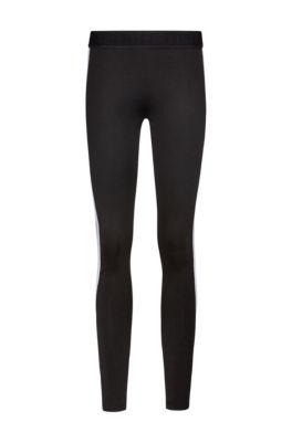 Legging Extra Slim Fit avec panneaux latéraux à logo, Noir