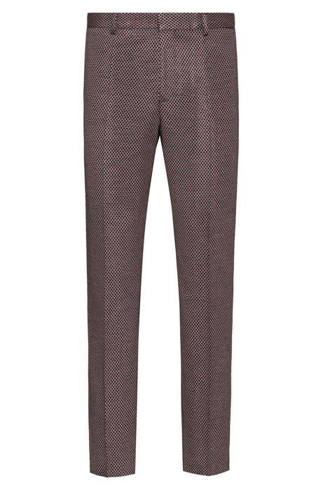Extra slim-fit broek met een microdessin, Bedrukt