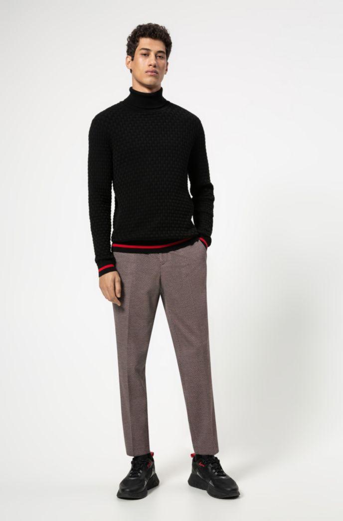 Pantalon Extra Slim Fit à micro motif