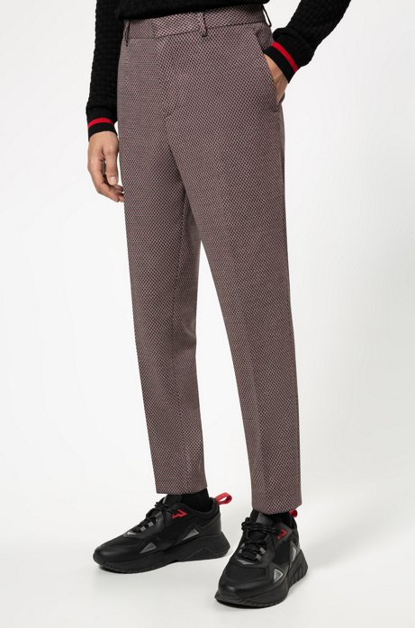 Pantalon Extra Slim Fit à micro motif, Fantaisie