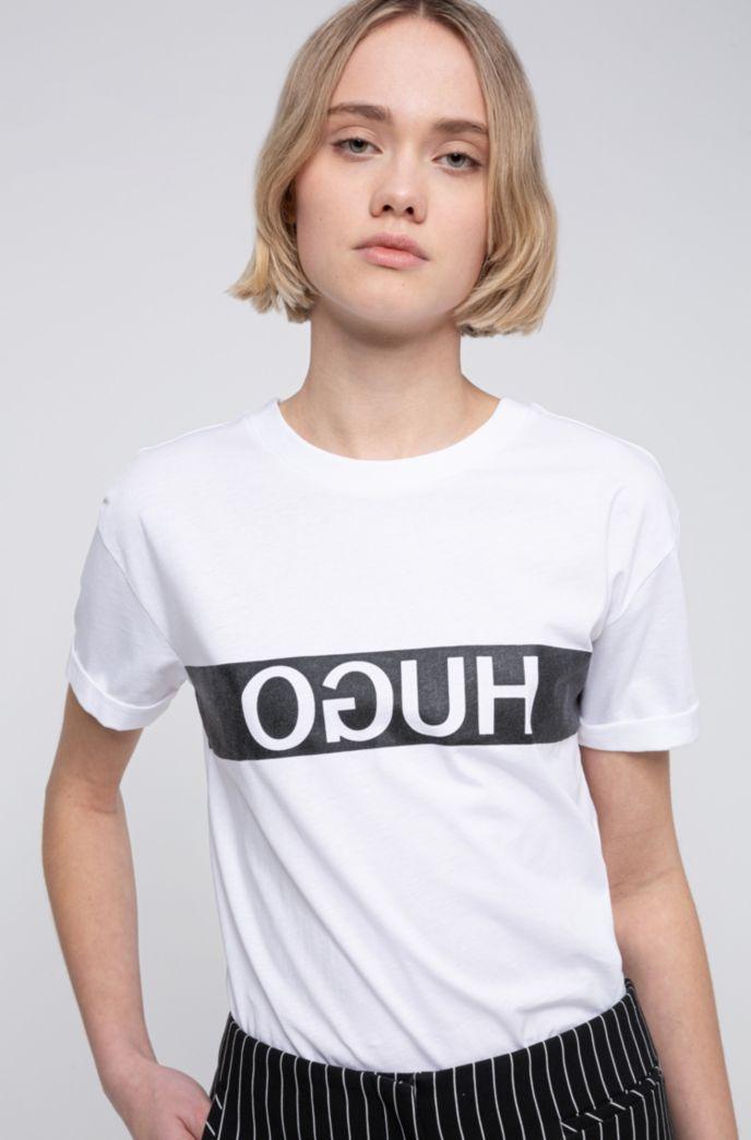 T-Shirt aus Recot®-Baumwolle mit Reversed-Logo