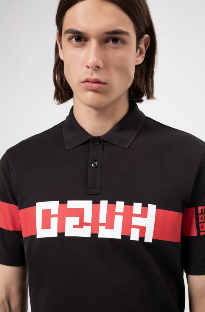 Polo regular fit con logo reversed