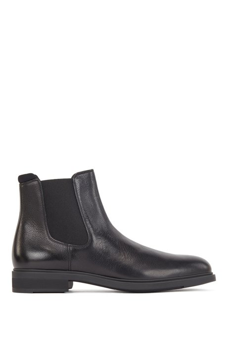 Italian-made Chelsea boots in leather with Outlast® lining, Black