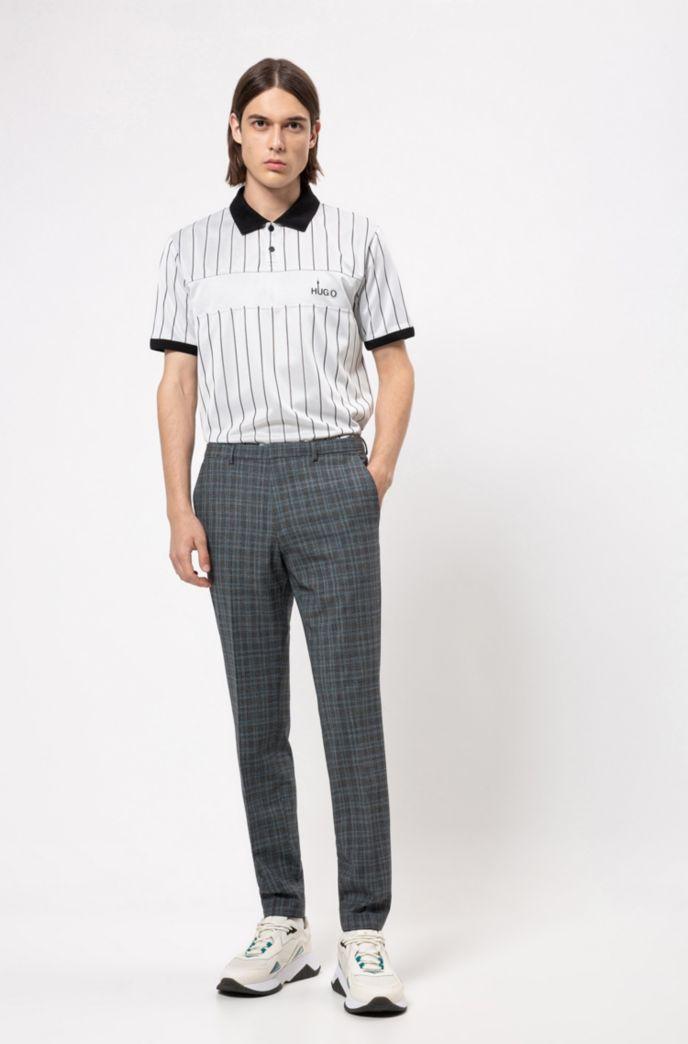 Pantalon Extra Slim Fit en laine mélangée à carreaux