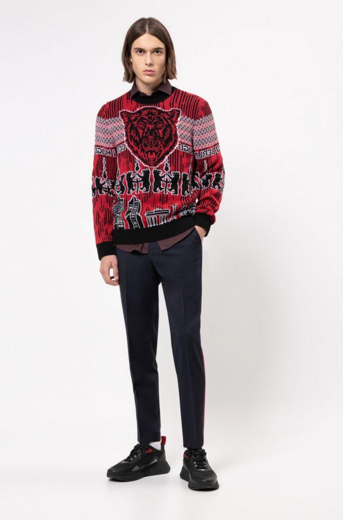 Pantalon Extra Slim Fit avec galon rayé sur les côtés