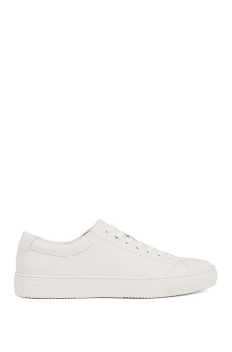 Tennis-style trainers in nappa leather with EVA sole, White