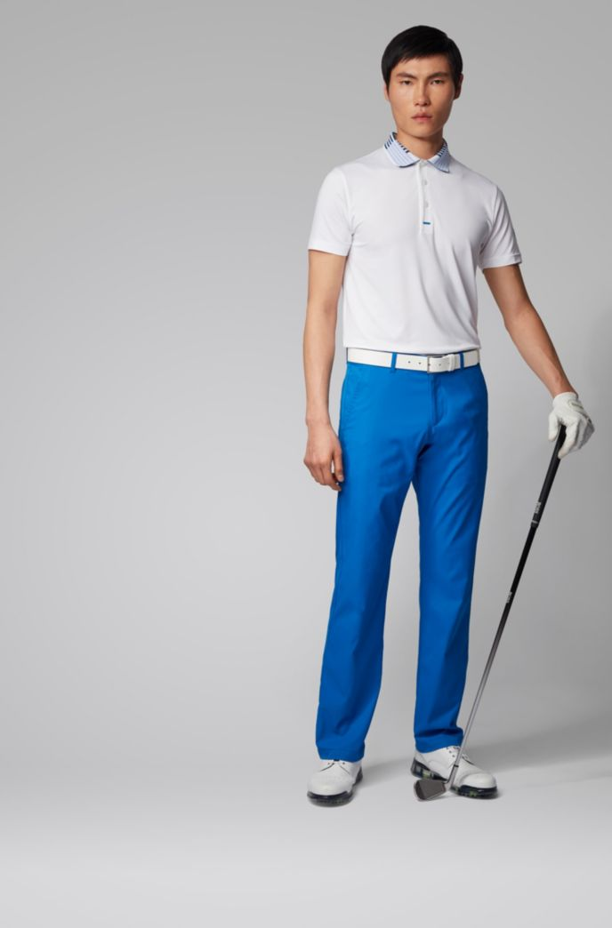 Slim-fit golfpolo van gerecycled stretchmateriaal