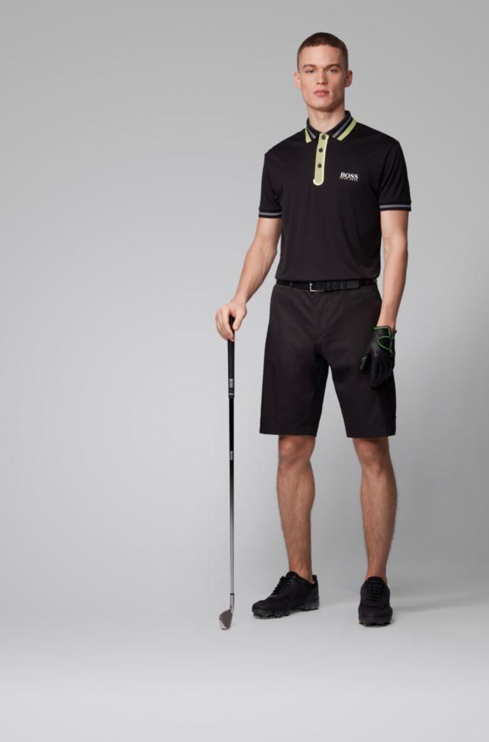 Polo de golf en tissu stretch à détails contrastants