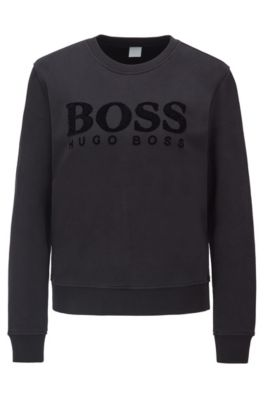 BOSS - Regular-fit sweatshirt with 3D sequinned