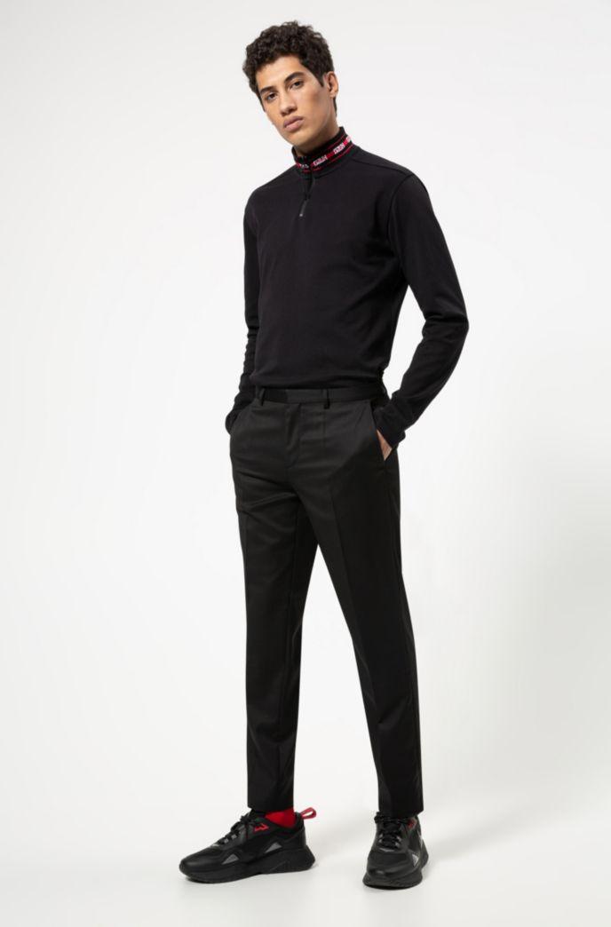 Longsleeve-Poloshirt aus Baumwolle mit Reversed-Logos am Kragen