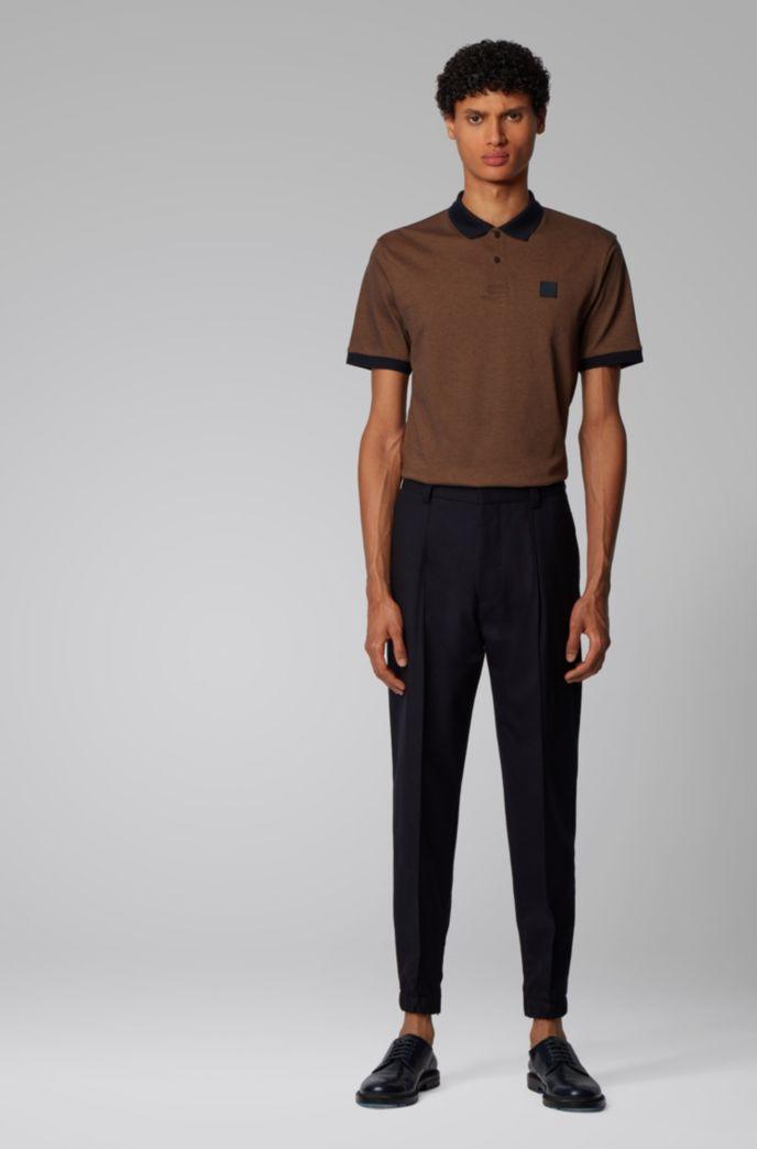Poloshirt aus Baumwoll-Piqué mit Druckknopfleiste