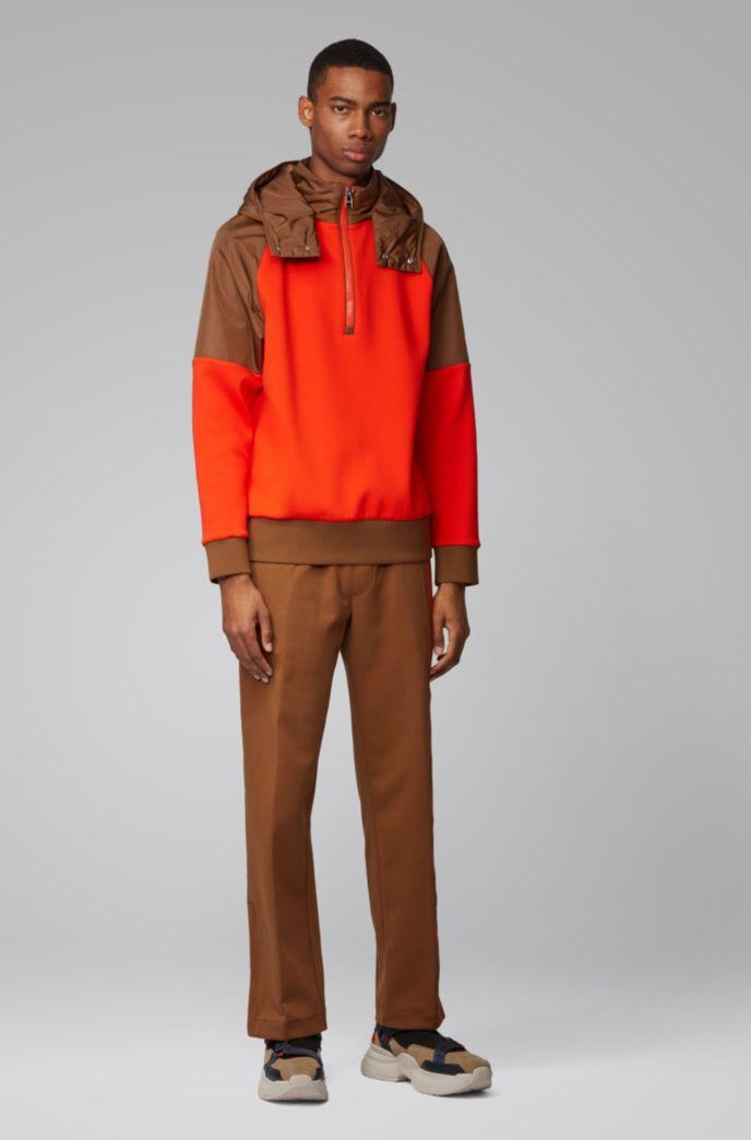 Hybride sweater met afneembare capuchon