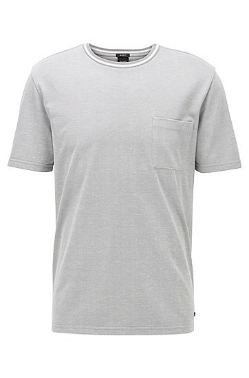 贴袋设计宽松版型 T 恤,  038_中灰色