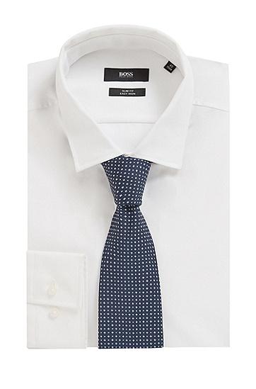 男士时尚商务通勤刺绣图案领带,  405_暗蓝色