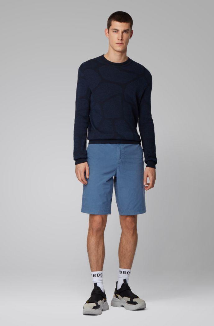 Regular-Fit Shorts aus Baumwoll-Popeline mit Tunnelzugbund