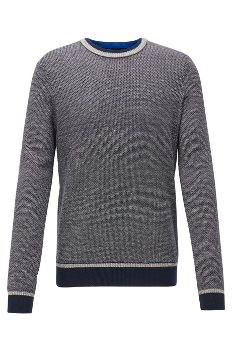 Pull Regular Fit à la structure bicolore, Gris sombre