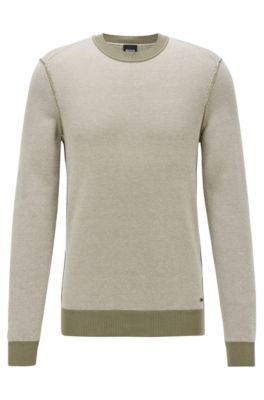Lichte trui van katoen met kapok, Kalk