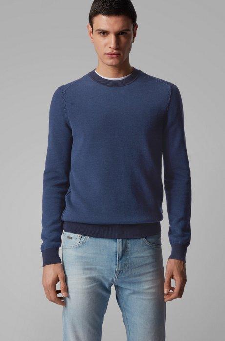 Pullover aus leichtem Baumwoll-Mix, Dunkelblau