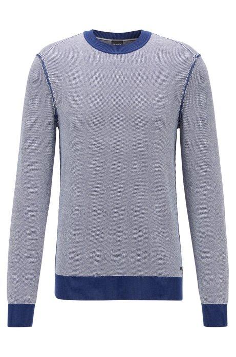 Lichte trui van katoen met kapok, Donkerblauw