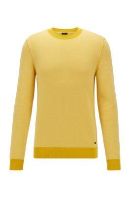 Lightweight sweater in a cotton-kapok blend, Yellow