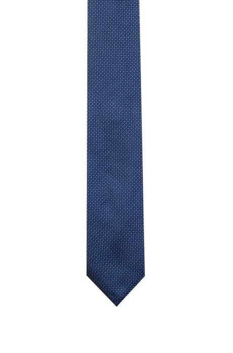 Silk-jacquard tie with two-tone micro pattern, Patterned