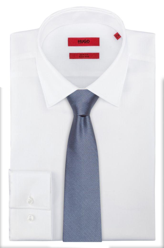 Cravate en jacquard de soie à micromotif