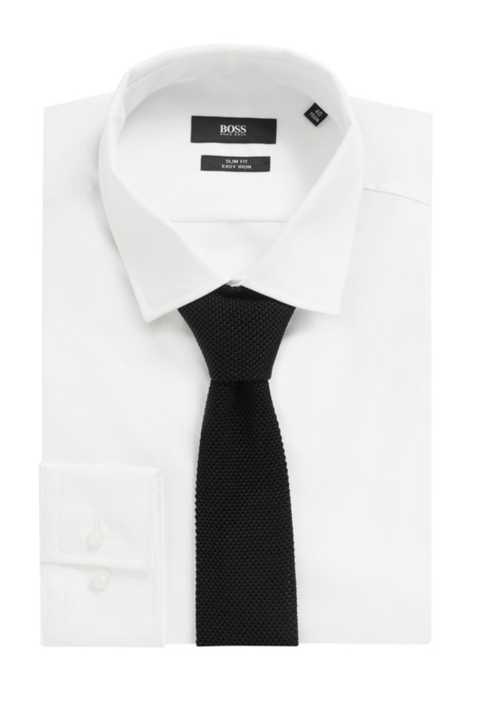 Strick-Krawatte aus Seiden-Jacquard mit geradem Ende