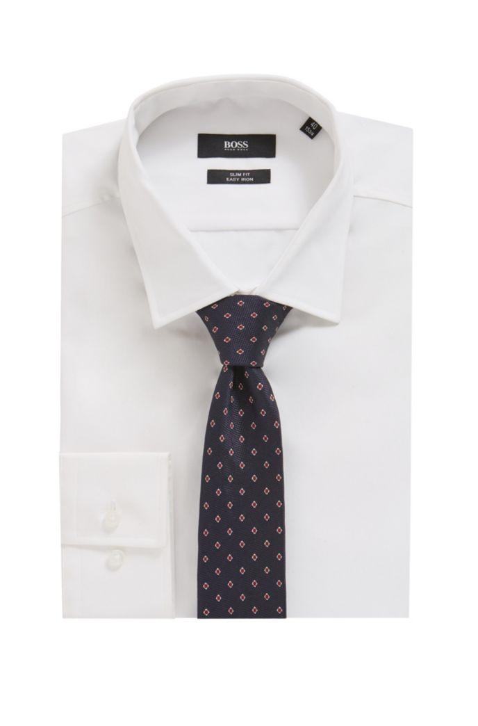 In Italien gefertigte Krawatte aus gemustertem Jacquard