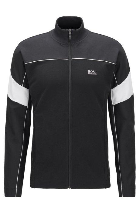 Sweatshirt met doorlopende ritssluiting, van technisch materiaal met S.Café®, Zwart