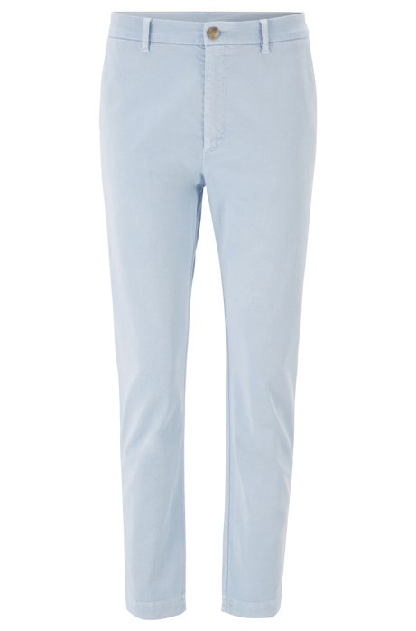 Relaxed-Fit Chino aus Stretch-Twill in Cropped-Länge, Hellblau