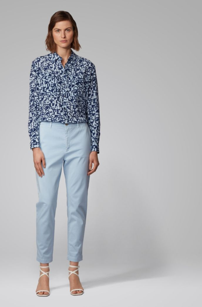 Relaxed-fit cropped chinos in stretch twill