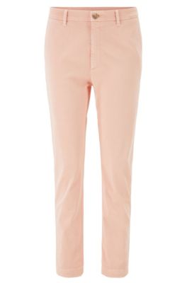 Relaxed-Fit Chino aus Stretch-Twill in Cropped-Länge, Hellorange