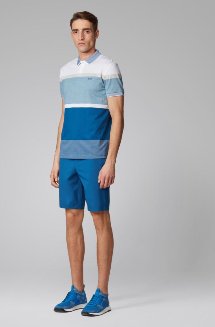 Poloshirt aus Baumwolle mit eingewebten Colour-Block-Streifen