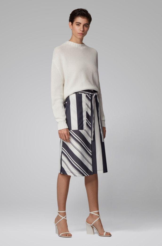 Oversized Pullover aus Baumwolle mit Struktur-Mix