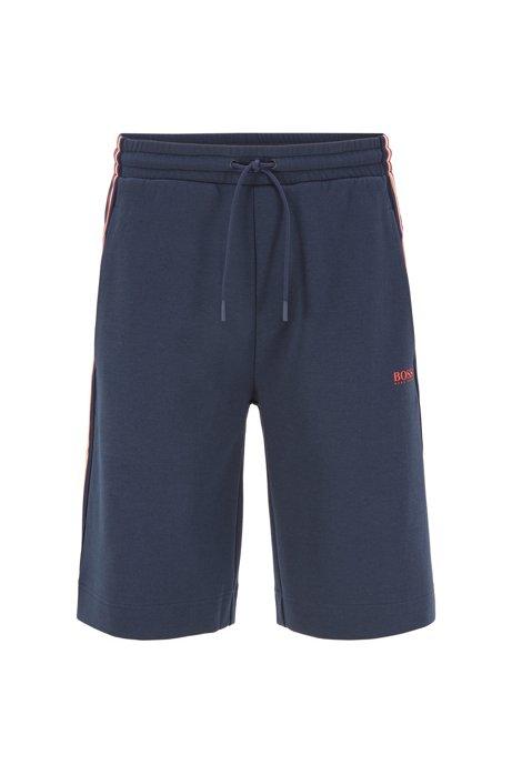 Relaxed-Fit Shorts aus Piqué-Jersey mit Tunnelzugbund, Dunkelblau