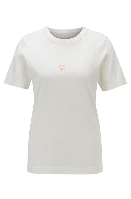T-shirt à logo en coton biologique, Chair