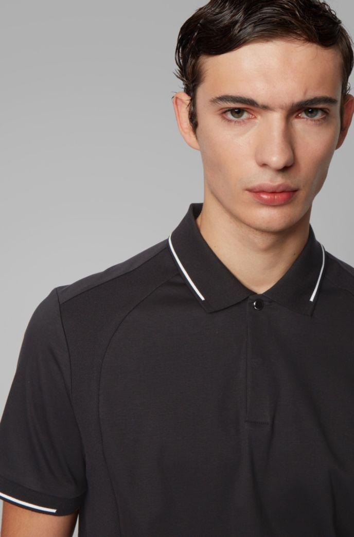 Poloshirt aus Baumwolle mit schimmernden Details
